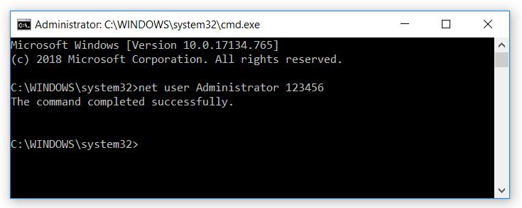 cmd Windows Pass Reset